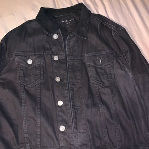 All Saints Black denim Jacket